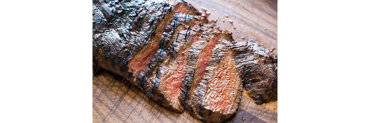 Flank steak på grill